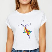 Ô COU COU TEE BLANCHE TEE ET HOMME TOPS WOMENS LGBT Bisous d'Avant Garde Imprimer design T-shirt Femmes Prevalent Summer Shirts