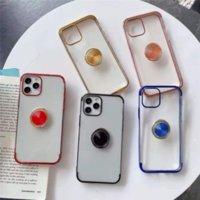 Krom Şeffaf Temizle Geri TPU Yumuşak Telefon Kılıfları iPhone 12 11 Pro Prokax X XS Max 7 8 Artı A30 A50 A40 A60 A70 Kılıf Kapak
