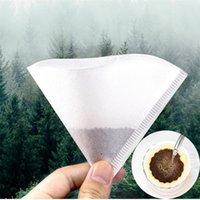 50 pcs / saco cone filtros de café, despeje sobre papel de filtro para melhor degustação Brewing Brewing Tea Infuser Acessórios NHB6024