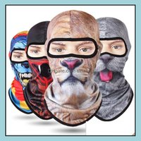 Caps Protective Gear & Outdoors 3D Animal Face Mask With Ears Outdoor Sports Cap Bicycle Cycling Fishing Motorcycle Masks Ski Balaclava Hall