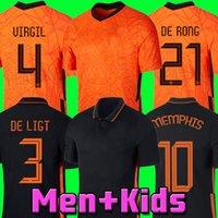 2020 هولندا 2021 لكرة القدم جيرسي دي جونج أطقم كرة القدم قميص فيرجيل 21 22 هولندا الفانيلة wijnaldum wrames klaassen van de beek ممفيس الرجال + أطفال مجموعات