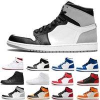 Sapatos de Basquete Mens 1s High OG Obsidian Royal Toe Tie Tintura Pinho Turbo Verde Bloodline 1 Homens Mulheres Treinadores Esportes Sneaker