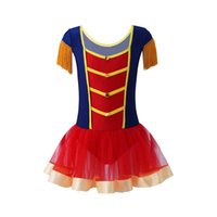 Stage Wear Kid Girls Ballerina Fairy Prom Ringmaster Circus Costume Fluffy Fringe Epaulettes Dance Gymnastic Ballet Leotard Tutu Dress