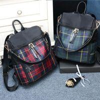 Diaper Bags Women Plaid Nylon Female Travel Daypack Laptop Backpack Schoolbags Feminina School Casual Rucksack Bag