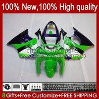 Bodywork For KAWASAKI NINJA ZX-6R 600CC ZX-636 ZX600 1998 1999 Body 16No.84 ZX-600 ZX600CC ZX636 98-99 ZX 636 600 CC 6 R 6R ZX6R 98 99 Motorcycle Fairing Kit green stock