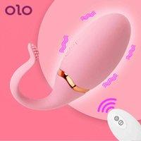olo 물고기 꼬리 점프 계란 진동기 클리토리스는 무선 원격 제어 자극을 자극합니다. USB 여성을위한 진동 계란 섹스 토이 Y0408