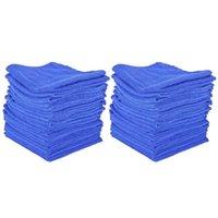 Car Sponge 40Pcs Absorbent Microfiber Towel Home Kitchen Washing Clean Wash Cloth Blue