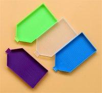 Fabriek Opbergdozen Bakken Plastic Boorplaat Dienblad met Poort DIY Diamant Schilderen Borduurwerk Accessoires Bead Sorteerladen Rhinestone Nail Art Ment Tool