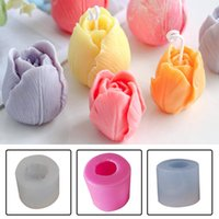 Craft Tools 3D Tulip Candle Mold Handmade DIY Flower Soap Silicone Chocolate Cake Forms Making Supplies