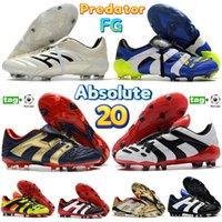 Alta Qualidade Mens Sapatos de Futebol Predator Absolute 20 Acelerador Eletricidade FG Designer Football Sneakers Triplo Black Black Blue Branco Volt Treinadores de Ouro Obsidian