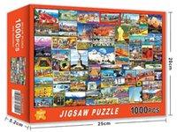 1000 piezas rompecabezas de rompecabezas ensamblaje de madera espacio viaje rompecabezas juguetes para adultos niños niños juegos caseros 50 estilos