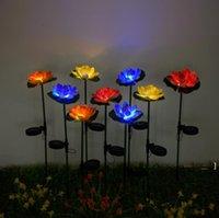 Lotus Цветочный Свет светодиодный Водонепроницаемый Солнечный Пруд Садовые Украшения Многоцветные Изменение Ландшафта Декоративные Открытый Газон Лампы Sea BWC7578