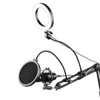 6.3inch 16cm Video Microphone Ring Light Kit With Filter Articulating Arm Ball Head Stand Micropone Mount Flash Heads
