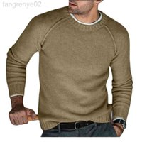 20201Autumn Winter Jersey Jumpers Men Long Sleeve O Neck Solid Color Autumn Knitted Sweater Pullover Dropshipping