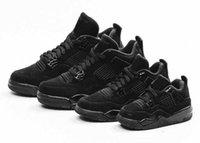 Мужские Женщины Малыш 4 OG Черный кот jumpman 13 Обувь Баскетбольные Обувь Мужчины Rush Фиолетовая Обувь Дизайнер 11 Вырос 28-47 с коробкой CU1110-010