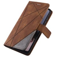 Leather Flip Cases for Huawei P20 P30 P40 Pro Lite P Smart Anti-Fall Fold Solid Color Wallet Card Slot Bag Cover