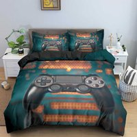 Ragazzi Videogiochi Comforter Duvet Cover Set King Size Gamepad Controller Set di biancheria da letto per bambini Ragazzi Ragazze GIOVANI GIOCO Biancheria da letto Set