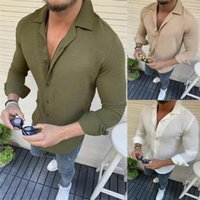 Men's Leisure Shirt Cotton And Linen Lapel Long-sleeved Casual Shirts