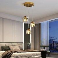 Shinny Crystal Pendant Lighting Lamp for Living Room Bedroom Hotel Dining Cafe Lamps Adjustable Height G9 sockets Luster Indoor Light R460