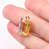 NOUVEAU Coloré K9 Crystal Crystal Pendentifs carrés pour bijoux Faire bricolage Boucles d'oreilles Collier Fashion Charms Bijoux Accessoires 230 W2