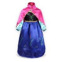 Prinzessin Kostüm für Mädchen Schnee Queen Anna 2 Cosplay Kleider Perücke Kinder Weihnachten Geburtstag Party Kleid Baby Kleidung Zubehör 201203