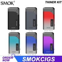 SMOK THINER Kit 750mAh Built-in Battery 5-25W Adjustable Wattage with 4ML Meshed 0.8ohm Pod & 0.69 inch OLED Display Type-c Charging Vape E-cigarette Authentic