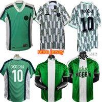 1998 Nigelia Soccer Jersey Home Oled Tougsuit Okechukwu Okocha Ahmed Musa Mikel iHeanacho Футболка