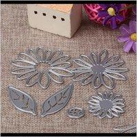 أدوات 6 قطع الزهور قطع المعادن سكرابوكينغ يموت استنسل بو الألبوم الزخرفية النقش الحرفية ورقة بطاقة bwku9 x5e9u