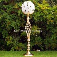 Altın zihinsel düğün sütunları weddingpartyel dekorasyon sahne partisi için geçit standı