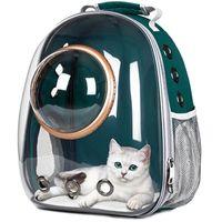 ASTRONAUT VENTANA BURCULA DE LA VENTANA Llevar la bolsa de viaje Espacio transpirable Cápsula Transparente PET Carrier Bag Dog Cat Mochila