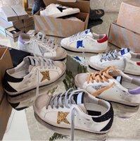 İtalya Marka Eski Kirli Rahat Ayakkabılar Tasarımcı Altın Süper Yıldız Pullu Sneakers Erkekler Kadınlar Kaz Klasik Beyaz Eğitmenler EUR36-45