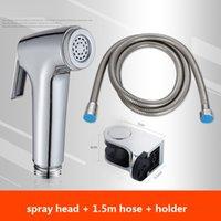 HF007S bidet Healthy Faucet set high pressure with 1.5m hose & hanger Shattaf Sprayer toilet hand shower easy control