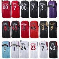 Basketbol Rodney Hood Jersey 32 Henry Ellenson 44 Gary Trent JR 33 Deandre Bembry 95 Siyah Kırmızı Beyaz Boyut S için XXXL
