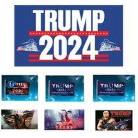 Stock Trump 2024 Flagge US-Präsident-Wahl-Flagge-Kampagnen-Kampagnen-Banner Digitaldruck-Unterstützung Banner-Flagge Garten Yard-Hintergrund-Flaggen