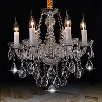 Nordic lights luxury crystals chandelier Living Rooms Crystal Hanging Light Bedroom Stair Dining Room Candle Lamps Glass Lamp