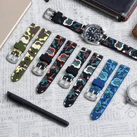 Watch Bands ZOVNE High Quality Silicone Camo Band Waterproof Waffle Strap 18mm 20mm 22mm For Samsung Huawei Watches Sport Men
