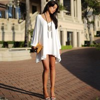 Casual Dresses Elegant Chiffon Dress Women Long Sleeve Beach Shift Summer Oversized Plus Size Vestidos 2021 Pink White Blue