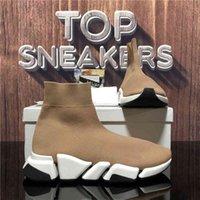 Top Qualität Paar Mode Designer Schuhe Damen Geschwindigkeit Sport Turnschuhe Männer Frauen Triple S Black Outdoor Platform Socken 2 .0 Casual Trainer