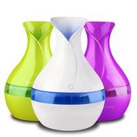 Увлажнители 300 мл USB Aroma Diffuser Mini Vase Форма Увлажнитель воздуха Ультразвуковой распылитель Ароматерапия Эфирное масло 7 Цветные светодиодные фонари