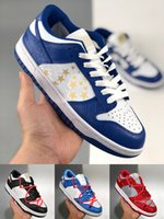 [Braccialetto + calze + scatola originale] Supreme x Nk SB Dunk Low joint casual sports skateboard shoes OFF-WHITE x Nike Dunk Low x FL tripartite joint Dancing Bear