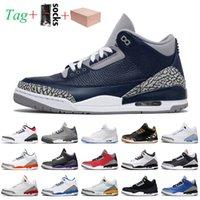 nike air jordan 3 3s jordan retro 3 stock x Sneaker مع مربع جورج تاون 2021 jumpman 3 3 كرة السلة الرجعية unc الليزر بارد المحكمة الأرجواني كاترينا جثر المدربين أحذية