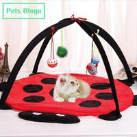 개집 펜 애완 동물 빙고 접이식 개 침대 45cm 고양이 놀이 집 장난감으로 다기능 고양이 텐트 에코 - 친화적 인 강아지 해먹 애완 동물 용품