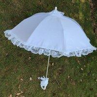 Boda parasol parasol paraguas hueco encaje blanco romántico fotos accesorios decorativos paraguas flor niña