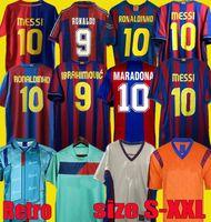 82 84 91 92 96 97 98 99 Ronaldinho Stoitchkov Barca Retro Soccer Jerseys 10 11 12 14 15 Camiseta Messi Ronaldo Guardiola Rivaldo Camisa de Fútbol Xavi 04 05 06 07 08 09