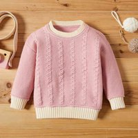 PatPat Baby Girl casual Sweaters Knitted Cotton Fashion Long Sleeve Infant Clothing Outfits for 210521