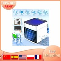 Electric Fans Portable Air Cooler Fan Mini USB 7 Colors Light Conditioner Humidifier Purifier Desktop Cooling For Office Home