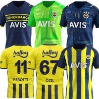 20 21 22 22 Fenerbahce Jerseys 2020 2021 2022 Camisetas de Fútbol Home Mesut Özil Ozan Tufan Perotti Samatta Camiseta Camisas de futebol Uniforme