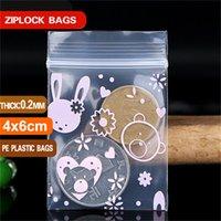 Толстые 0,2 мм маленькие цвета пластиковые сумки молнии на молнии сумка ziplock сумка на молния