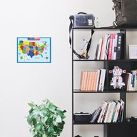 60*45cm America Map Wall Stickers Children Geography Learning Early Childhood Education Poster Walls Chart Classroom KKB7062