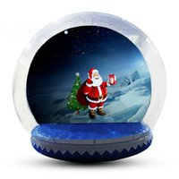 Clear Bubble Dome On Sale Christmas Inflatable Snow Globe Photo Booth Customized Backdrop Snow Globe With Pump People Go Inside